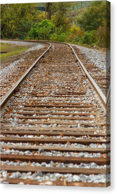 Winding Rails Canvas Print by Heather Roper