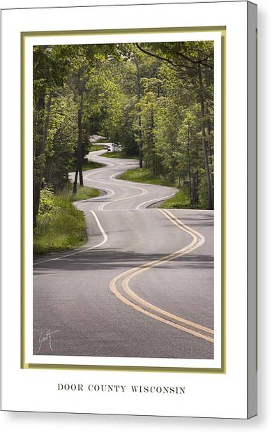 Winding Road Door County Canvas Print