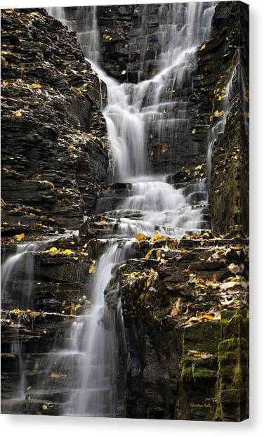 Canvas Print featuring the photograph Winding Waterfall by Christina Rollo