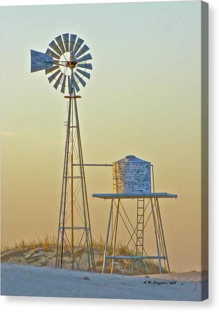 Windmill At Dawn 2011 Canvas Print