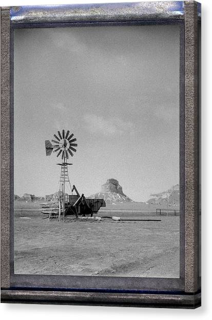 Windmill At The Bluffs Canvas Print