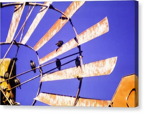 Windmill Birds Canvas Print