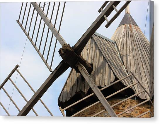 Windmill Canvas Print by Carrie Warlaumont
