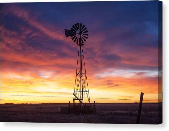 Windmill Dressed Up Canvas Print