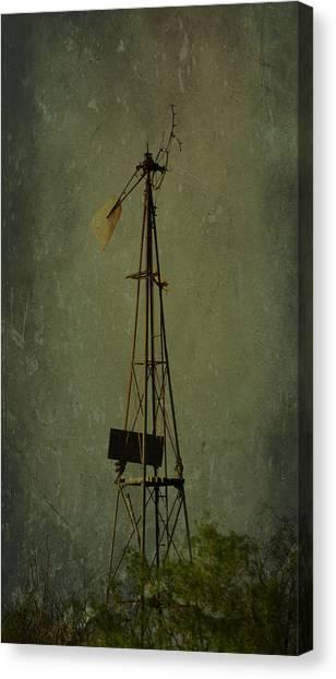 Windmill In Summer Canvas Print by Mikki Cromer