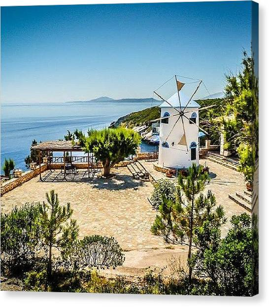 Ford Canvas Print - Windmill In #zakynthos #greece  #travel by Alistair Ford