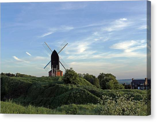 Windmill On Brill Common Canvas Print
