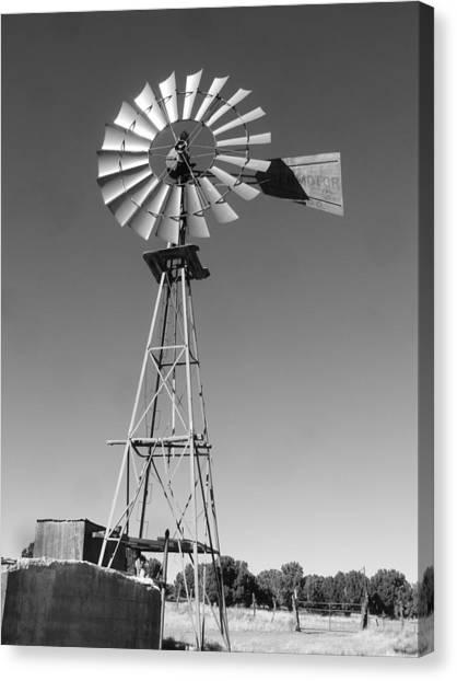 Windmill On The Range Canvas Print