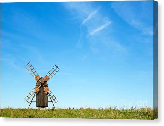 Windmill Portrait Canvas Print