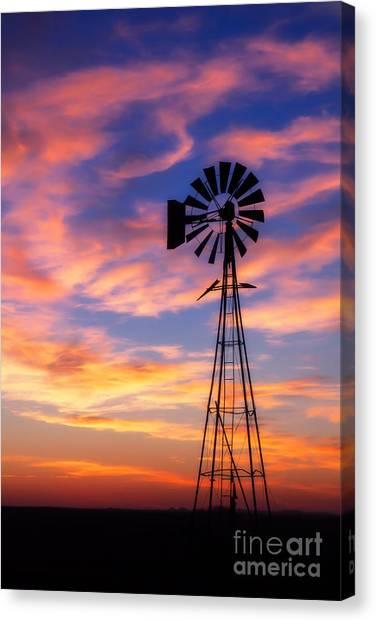 Windmill Silhouette 1 Canvas Print