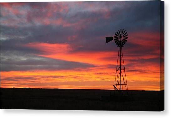 Windmill Sunrise Canvas Print
