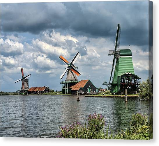 Windmill Trio Canvas Print