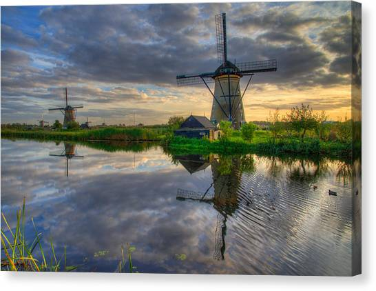 Duck Canvas Print - Windmills by Chad Dutson
