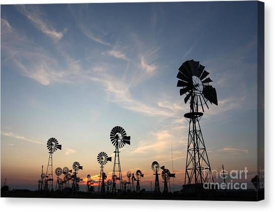 Windmills Canvas Print