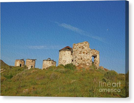 Windmills Canvas Print by Nur Roy