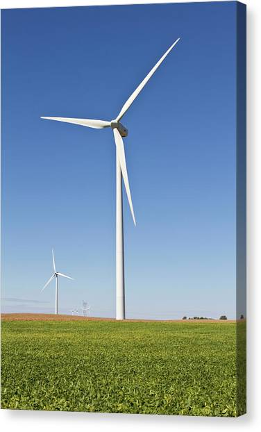 Clean Energy Canvas Print - Windmills, Tazewell County, Illinois by Richard and Susan Day