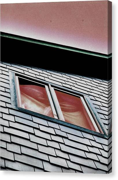 Window Above Canvas Print by Stephanie Grooms