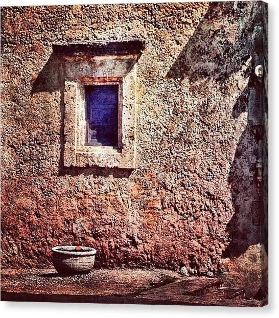 Texas Canvas Print - #window #adobe #texas #mission by Jill Battaglia