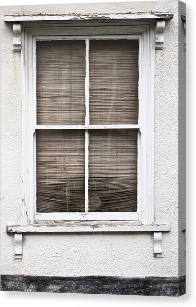 Window Canvas Print - Window And Blind by Tom Gowanlock