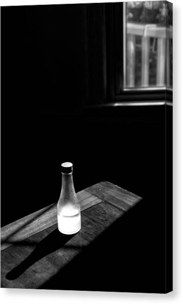 Window And Bottle Canvas Print by Guillermo Hakim