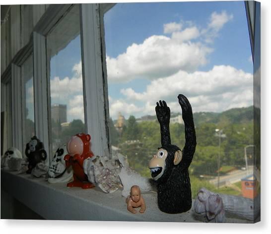 Window Buddies Canvas Print by Bernie Smolnik