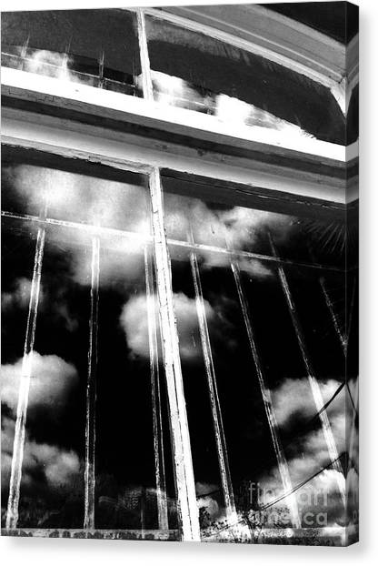 Window Clouds Canvas Print