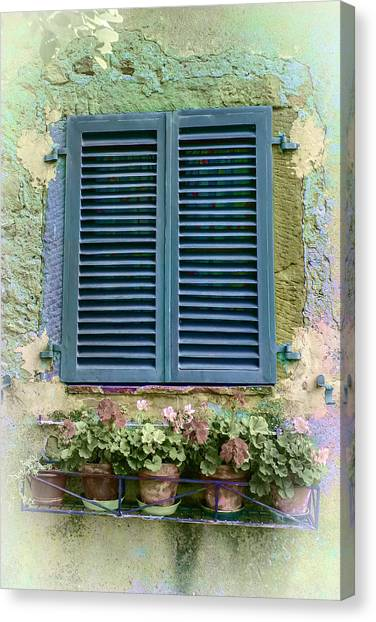 Window In Cortona - Texture Added Canvas Print