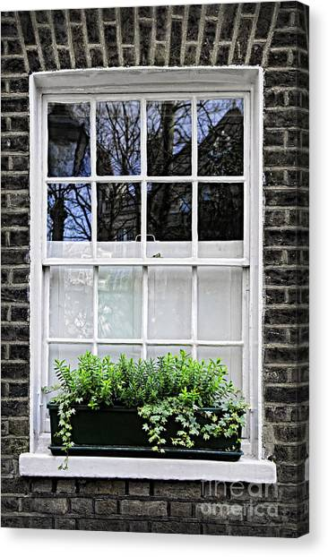 Window Canvas Print - Window In London by Elena Elisseeva