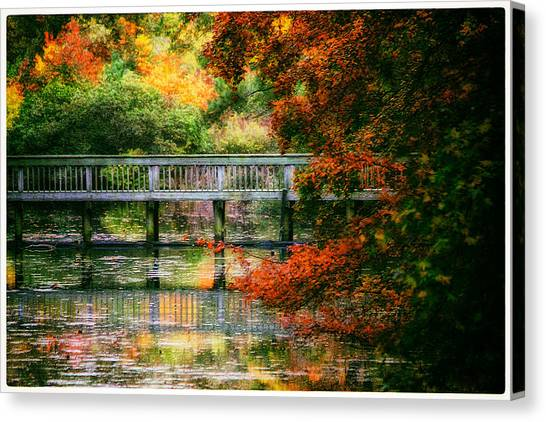 Window Into Autumn Canvas Print