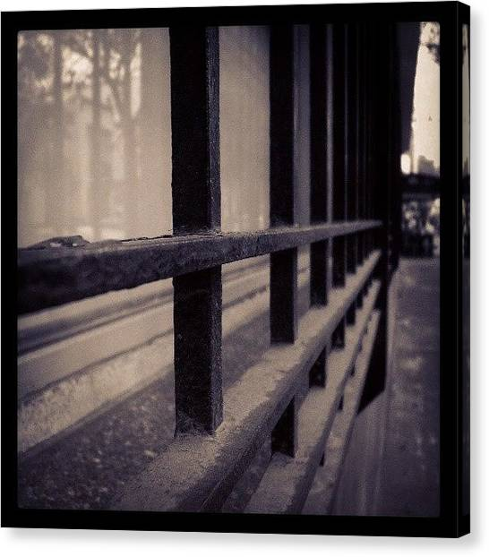 Art Deco Canvas Print - #window #iron #glass #reflection by Joe Giampaoli