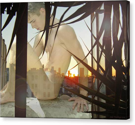 Window Ledge Ghost Boy Canvas Print