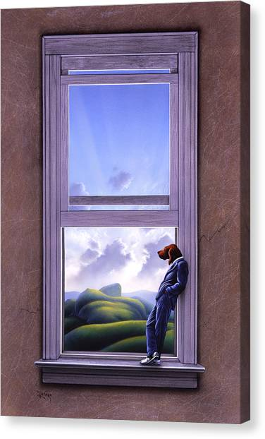 Surreal Canvas Print - Window Of Dreams by Jerry LoFaro