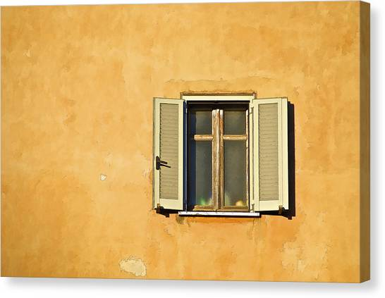 Window Of Rome Canvas Print