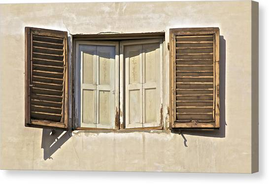 Window Of Tuscany Canvas Print