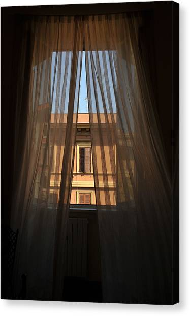 Window On Rome Canvas Print