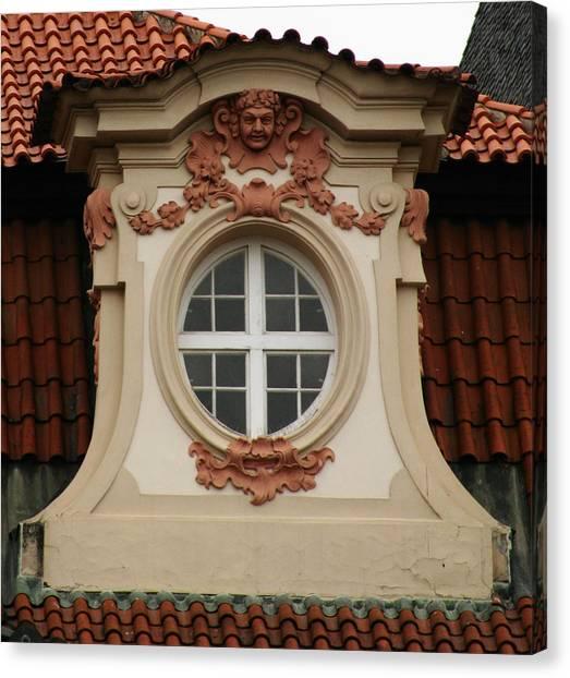 window Prague Canvas Print