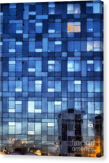 Moscow Canvas Print - Window Reflections by Stelios Kleanthous