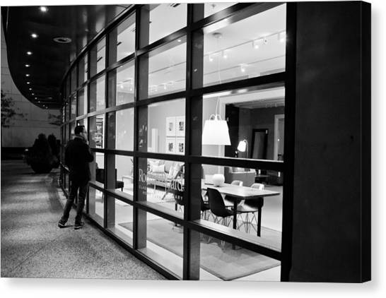 Window Shopping In The Dark Canvas Print