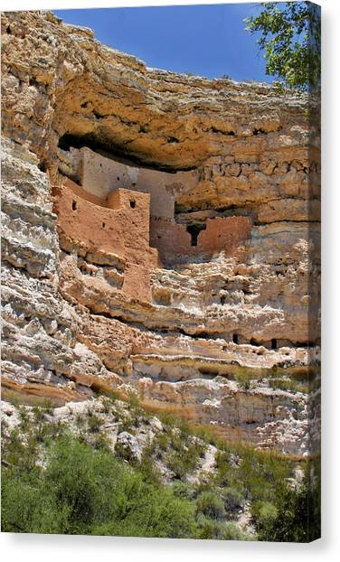 Ruin Canvas Print - Window To The Past - Montezuma Castle by Christine Till