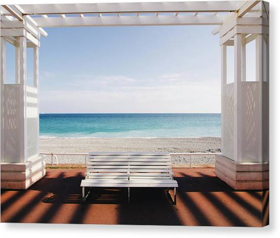 White Sand Canvas Print - Window To The Sea by Paco Palazon