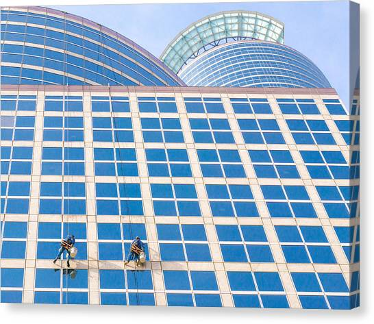 Vertigo Canvas Print - Window Washers by Jim Hughes