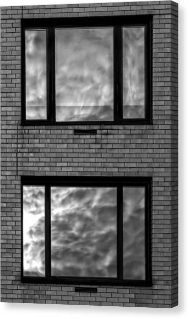 Windows And Clouds Canvas Print by Robert Ullmann
