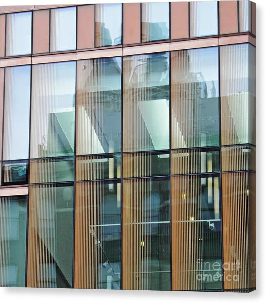 Columbia University Canvas Print - Windows At Barnard by Sarah Loft