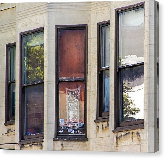 Canvas Print featuring the photograph Windows by Kate Brown