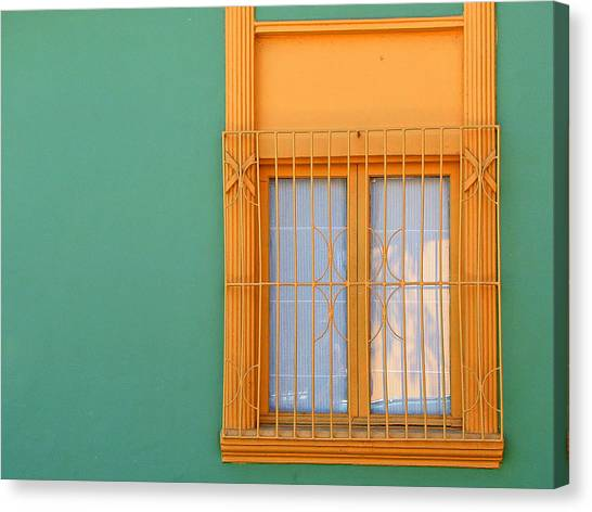 Canvas Print featuring the photograph Windows Of The World - Santiago Chile by Rick Locke