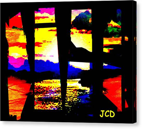 Windows On A Wonderful Scenery Canvas Print by Jean-Claude Delhaise