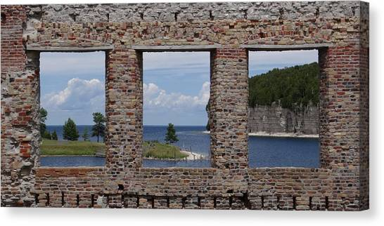 Windows On Snail Shell Harbor Canvas Print