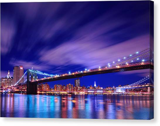 Dumbo Canvas Print - Winds And Lights by Midori Chan