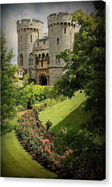 Queen Elizabeth Canvas Print - Windsor Castle Gardens by Stephen Stookey