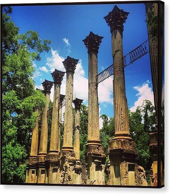 Mississippi Canvas Print - Windsor Ruins  by Scott Pellegrin